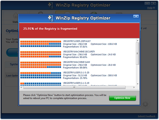 Registry Optimizer repairs, reorganizes, and compacts your Windows ...