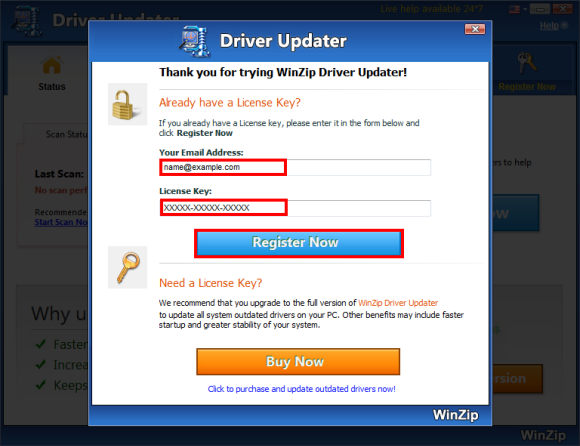 Winzip registered to